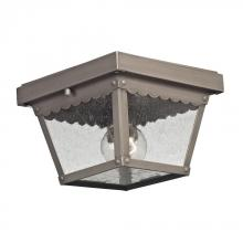 Elk Cornerstone 9102EF/80 - Springfield 2 Light Exterior Flush Mount In Dark