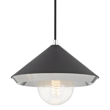 Hudson Valley H139701L-PN/BK - 1 Light Large Pendant