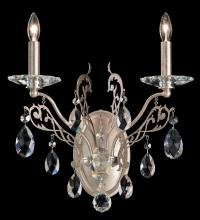 Schonbek FE7002N-26H - Filigrae 2 Light 110V Wall Sconce in French Gold with Clear Heritage Crystal