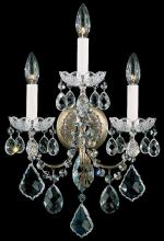 Schonbek 3652-23H - New Orleans 3 Light 110V Wall Sconce in Etruscan Gold with Clear Heritage Crystal