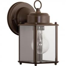 Progress P5607-20 - One Light Antique Bronze Clear Flat Glass Wall Lantern